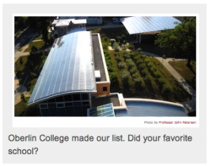 what are the greenest schools in the us